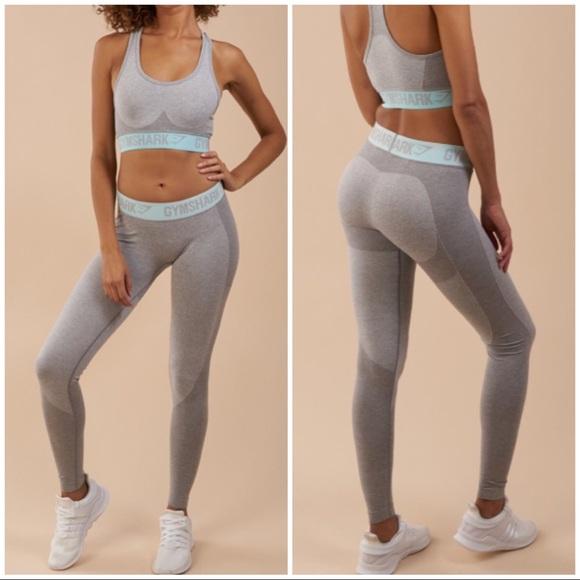 986cfa3cfb28c Gymshark Pants | Flex Leggings Light Gray Marlpale Turquoise | Poshmark